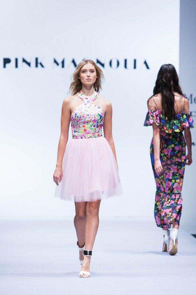 Vestidos de fiesta 2015 inspirados en la cultura mexicana - Foto Pink Magnolia en MBFWMX