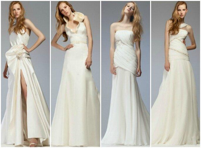 Perfetta per una sposa giovane e glamour la Collezione 2012 di Blumarine Sposa. Foto www.blumarine.com