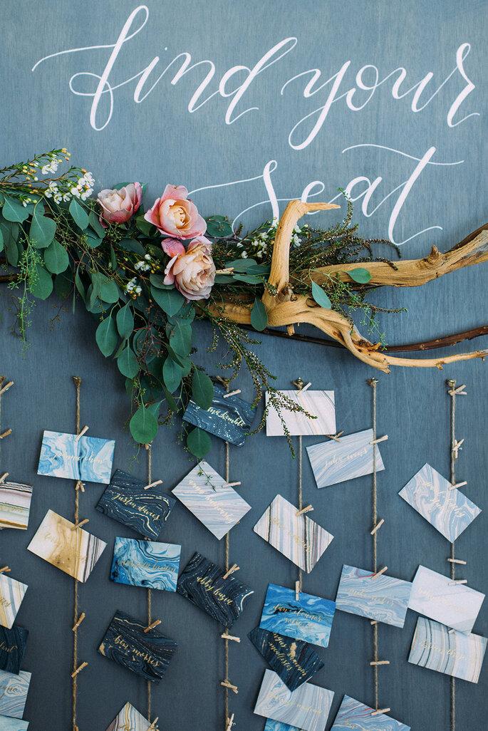 Envelopes com efeito marble