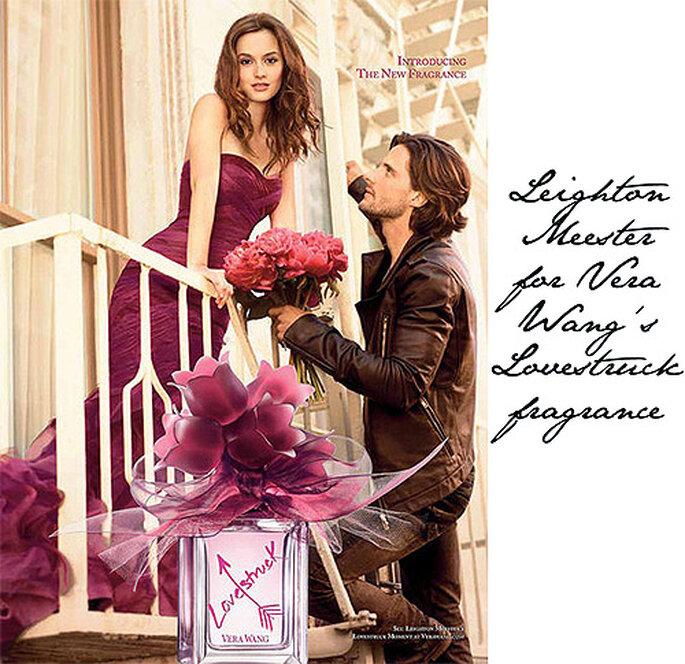 Leighton Meester es además imagen de uno de los perfumes de Vera Wang