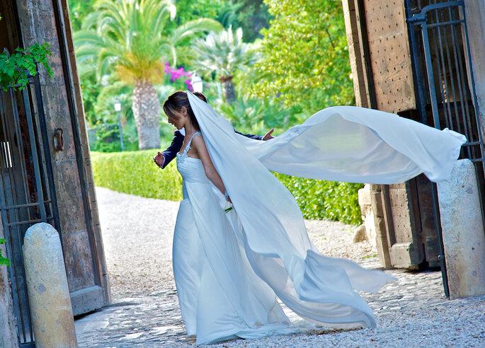 come mettere il velo da sposa