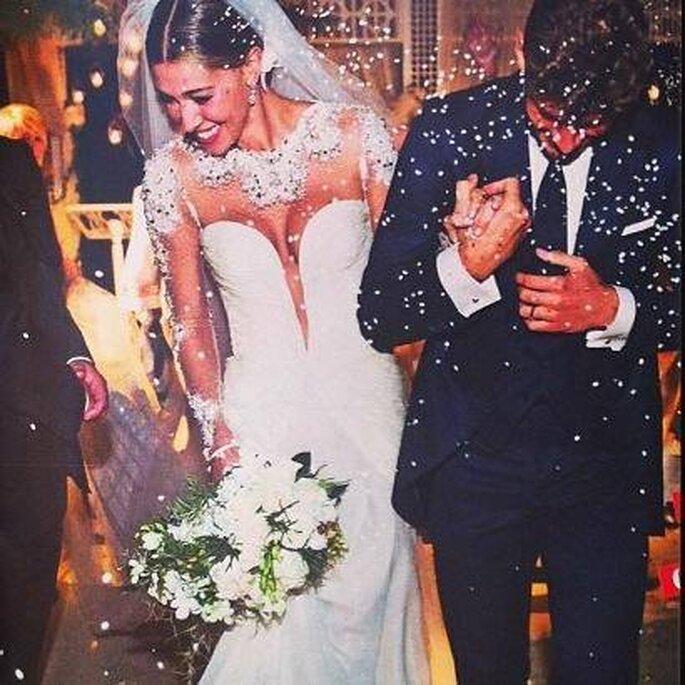 W gli sposi! Foto via Facebook