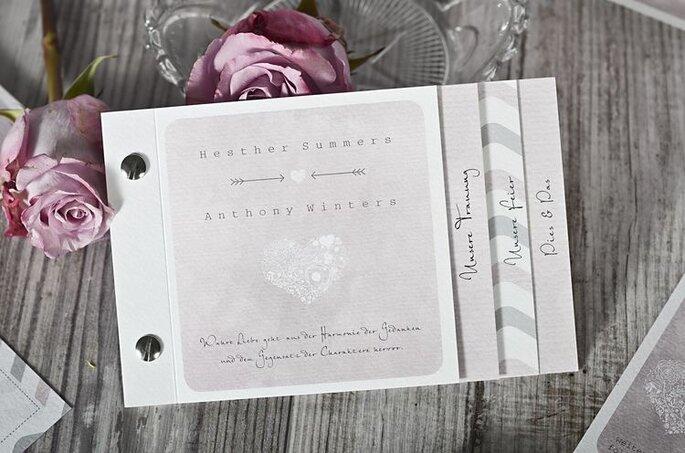 Hochzeitseinladung Pocketfolder Booklet
