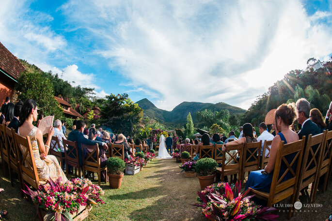 Casamento ao ar livre em Itaipava