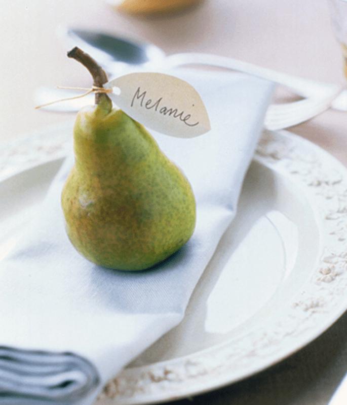 La frutta come segnaposto