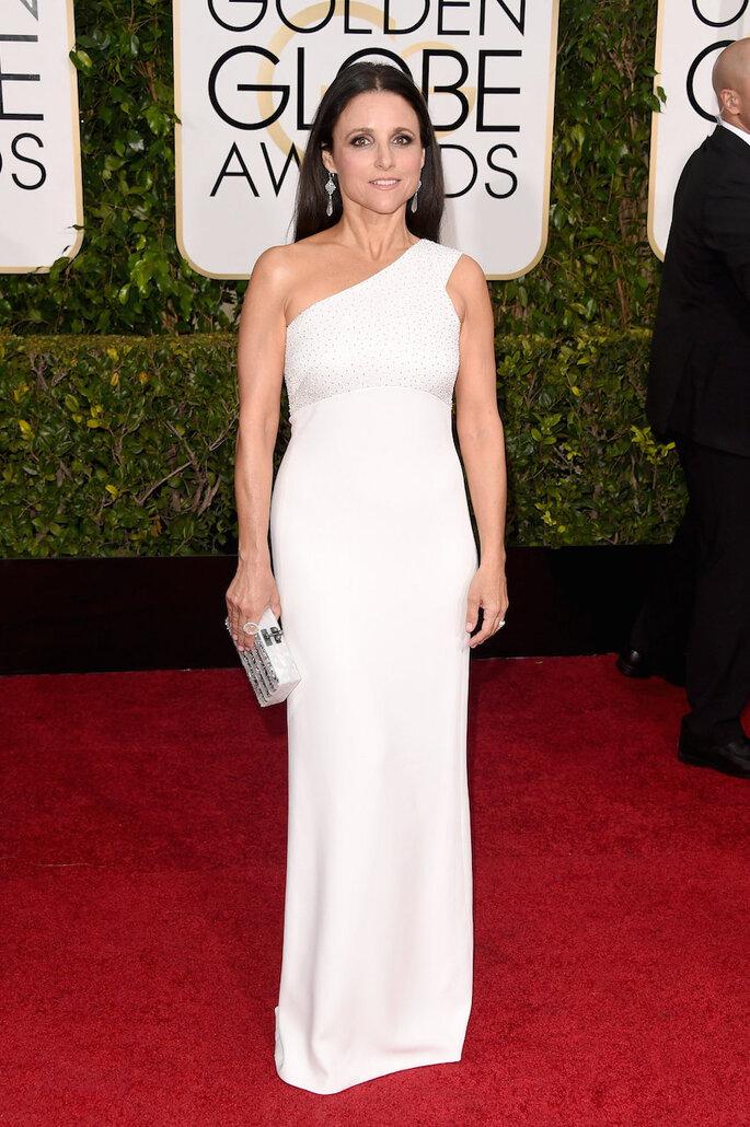 Las mejor vestidas de los Golden Globe Awards 2015 - Narciso Rodríguez (Julia Louis Dreyfus)