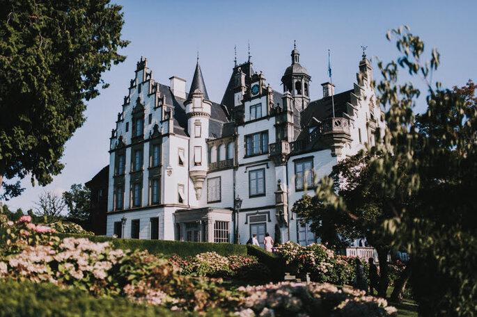 Blick auf das pittoreske Schloss Meggenhorn bei Luzern.