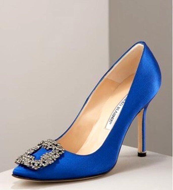 Zapato en azul shock diseño exclusivo que apareció en la pelicula de Sexo en Nueva York