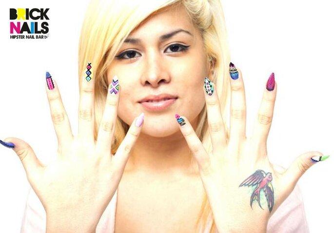 Diseños de uñas creativos para las novias más originales. Foto: Brick Nails