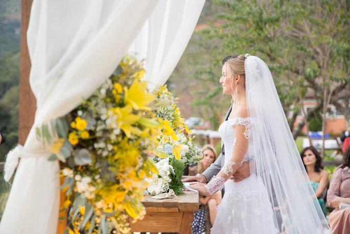 Cerimônia de casamento rústico