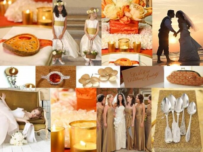 Exotically Elegant: Shades of Orange, Gold & Ivory via The Perfect Palette