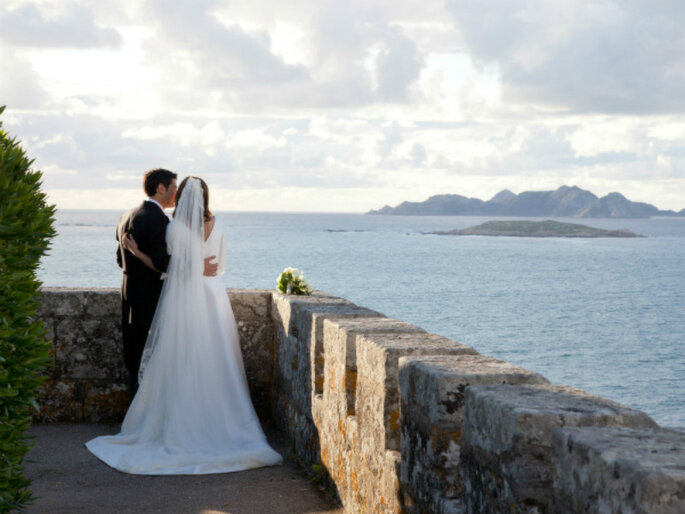 A wedding in the Parador de Baiona, Spain