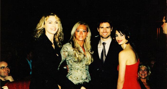"""Tom Cruise y Penélope Cruz en la presentación de la película """"Vanila Sky"""""""