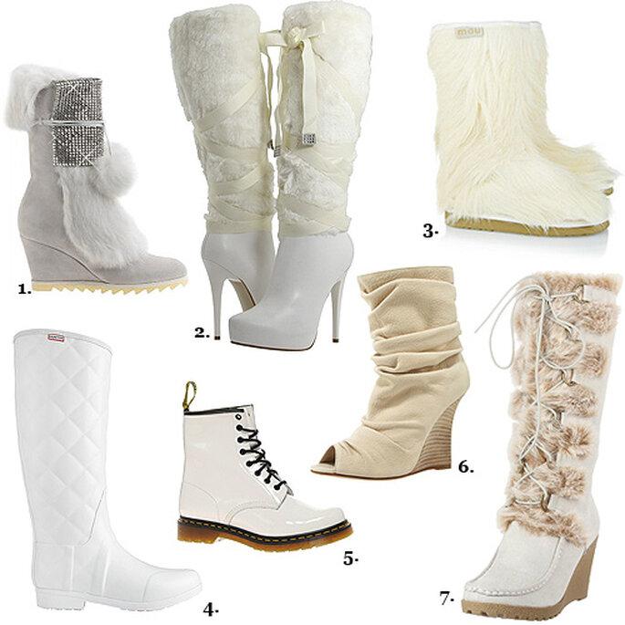 mariage en hiver chaussez des bottes avec votre robe de