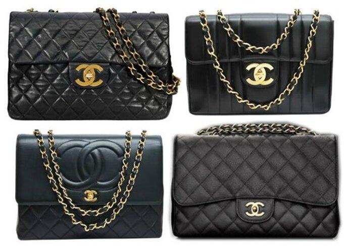 Alcune varianti della celebre Chanel 2.55 con tracolla.