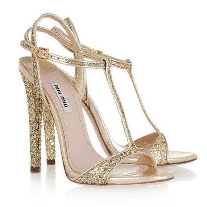 Mit diesen Schuhen wirkt die Braut sehr viel größer - Miu Miu Bridal Shoes 2013