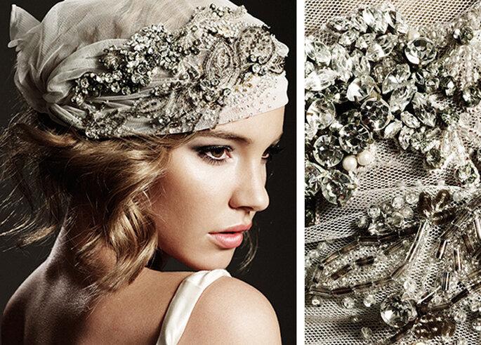 Coiffure de mariée avec perles - Photo : allmyhair.wordpress