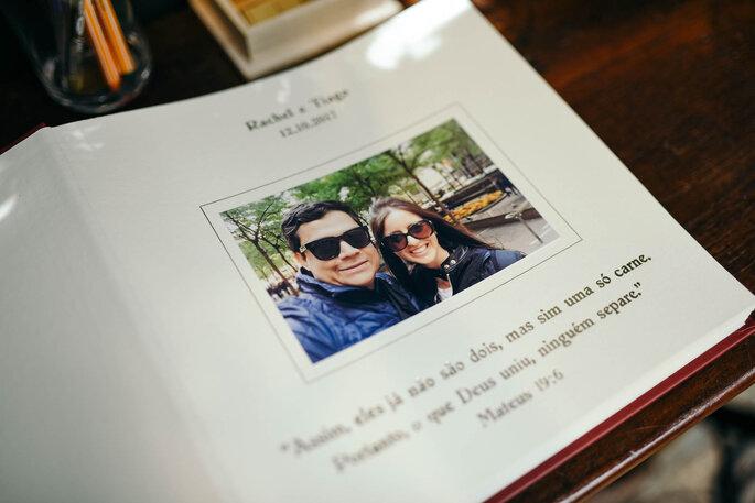 álbum de recados do casamento