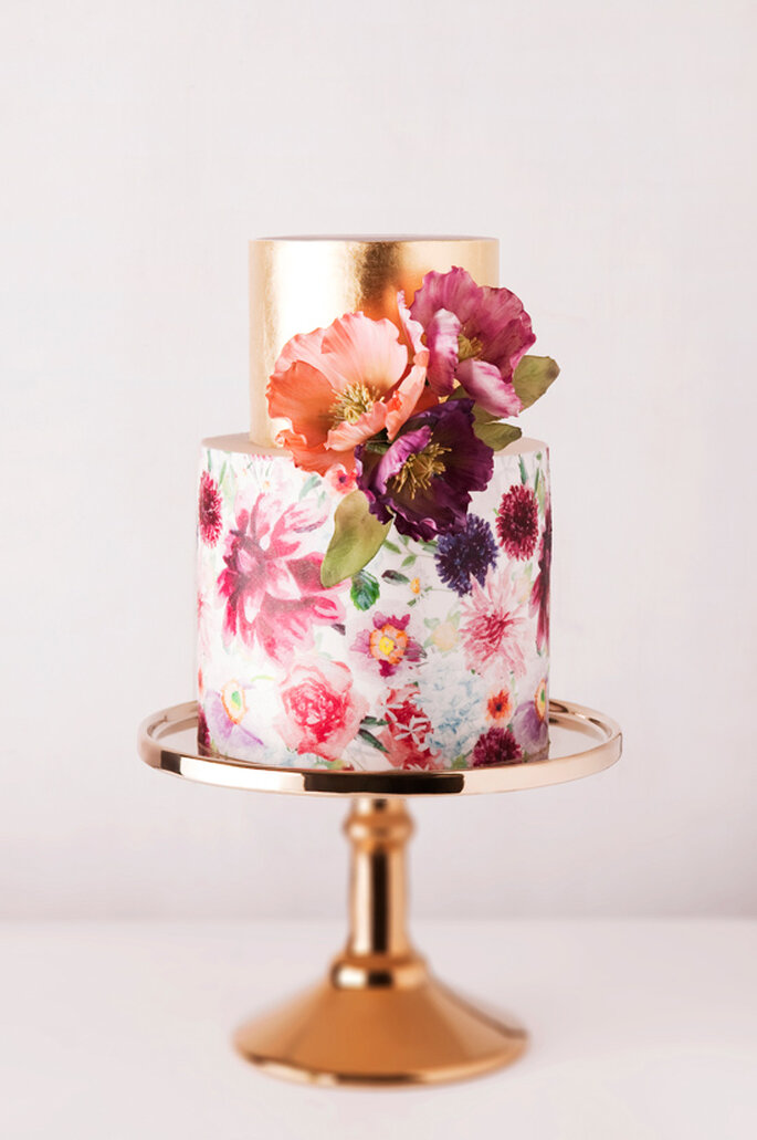 10 ideas geniales para que tu boda sea la más colorida - Cake Ink