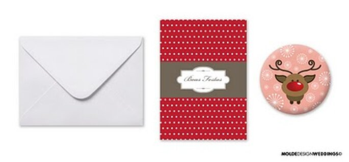 Postais para o Natal - Moldes Design Weddings
