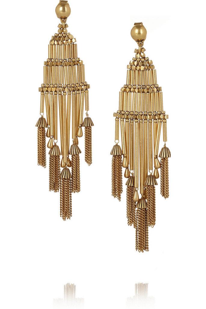 Accesorios en color dorado para una invitada fashionista - JCrew en Net a Porter