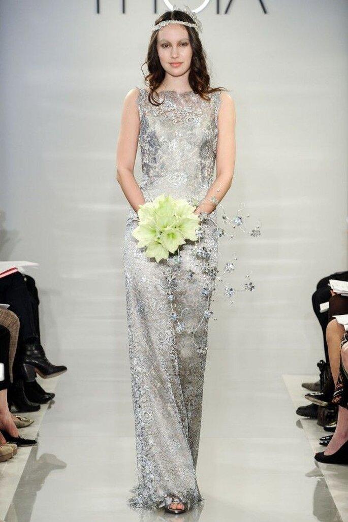 Vestidos de novia 2015 con un asomo de color - Theia