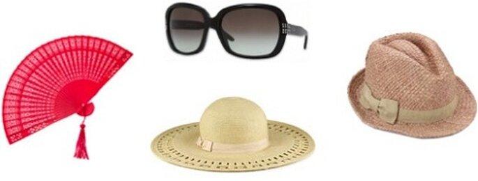 Foto: ventaglio e cappelli Accessorize; occhiali da sole Vogue Eyewear