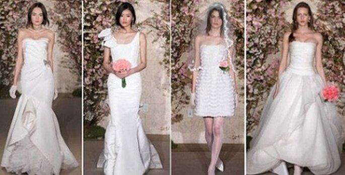 Vestidos de novia diseños de Oscar De La Renta colección primavera 2012