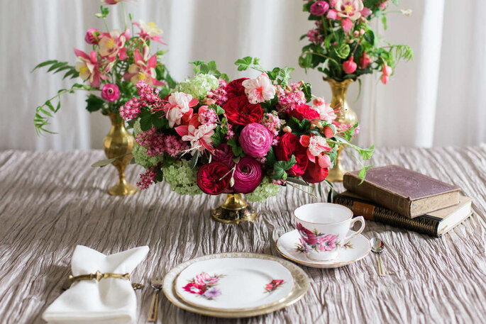 Hochzeitsdekoration Tisch Porzellan