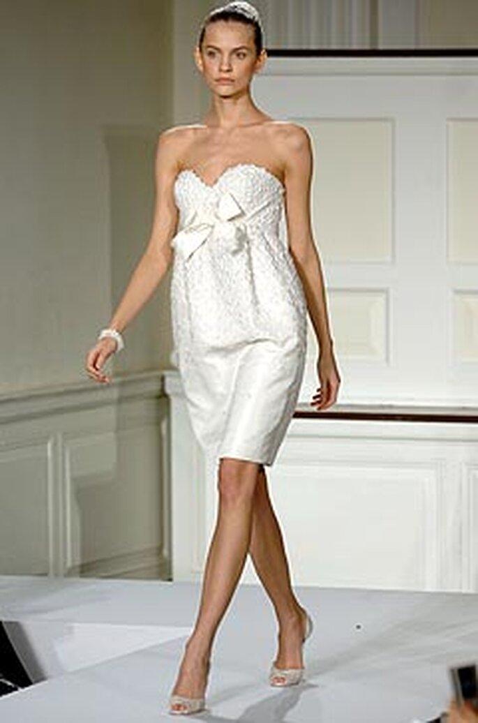 vestido corto de Oscar de la Renta