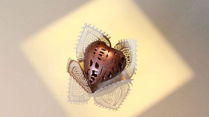 Linda trufa em formato de coração
