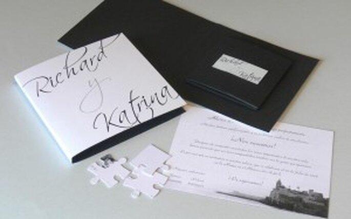 Invitaciones de boda originales una invitacin sobria pero muy original altavistaventures Image collections