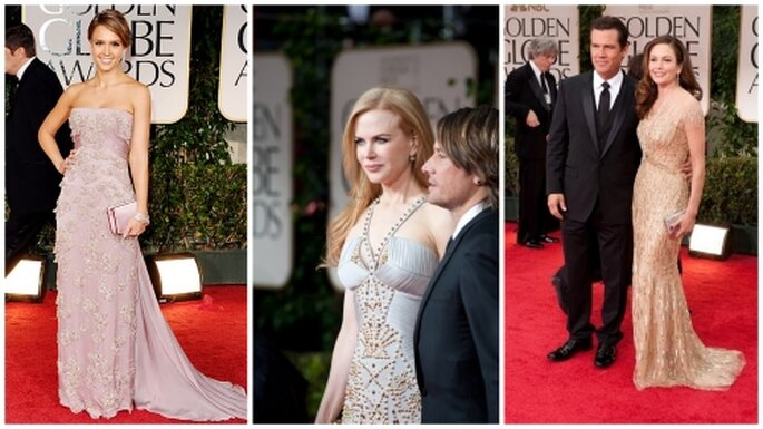 Jessica Alba, Nicole Kidman, Diane Lane  en Golden Globes 2012