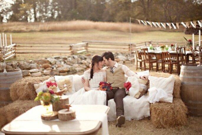 Rustikale Romantik – Foto: stylemepretty.com