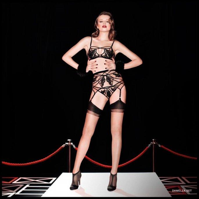 Conjunto de lencería con inspiración burlesque para novia - Foto Agent Provocateur
