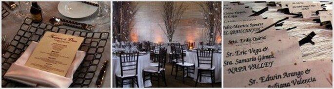 La decoración en blanco y negro para tu boda puede extenderse hasta los pequeños detalles. Fotos: Top Brand Events