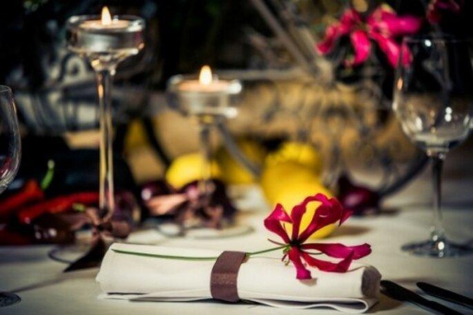 serwetka na weselnym stole