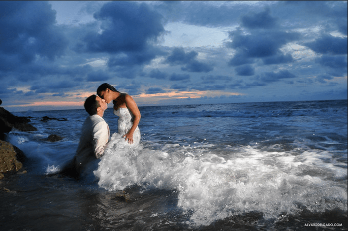 Trash the Dress en la playa, de Alvaro Delgado