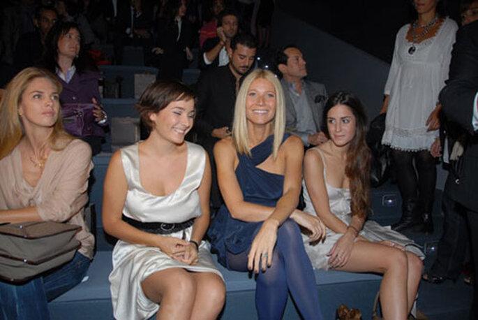 La actriz gwyneth paltrow presente para ver a Adolfo Dominguez