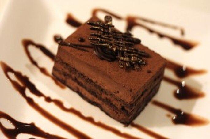 Des tables au nom de desserts au chocolat