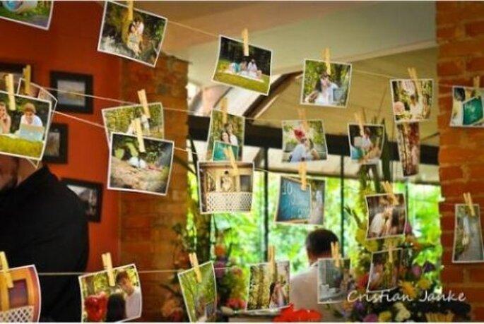 Decorate le vostre nozze con foto personali e appendetele: risultato assicurato! Foto: Cristian Janke