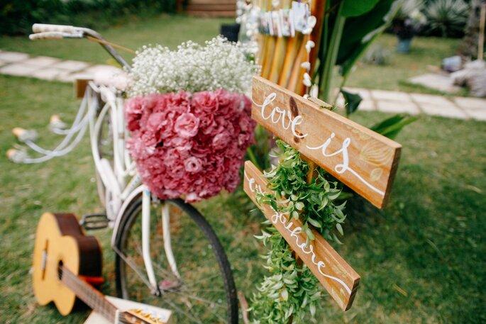 decoração casamento boho
