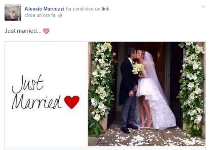 Foto via facebook.com/alessia.marcuzzi