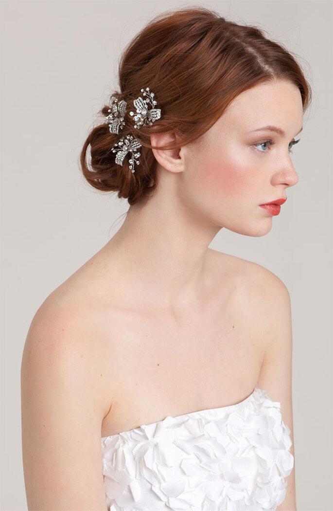 Cómo elegir el mejor tocado de novia - Foto Nordstrom