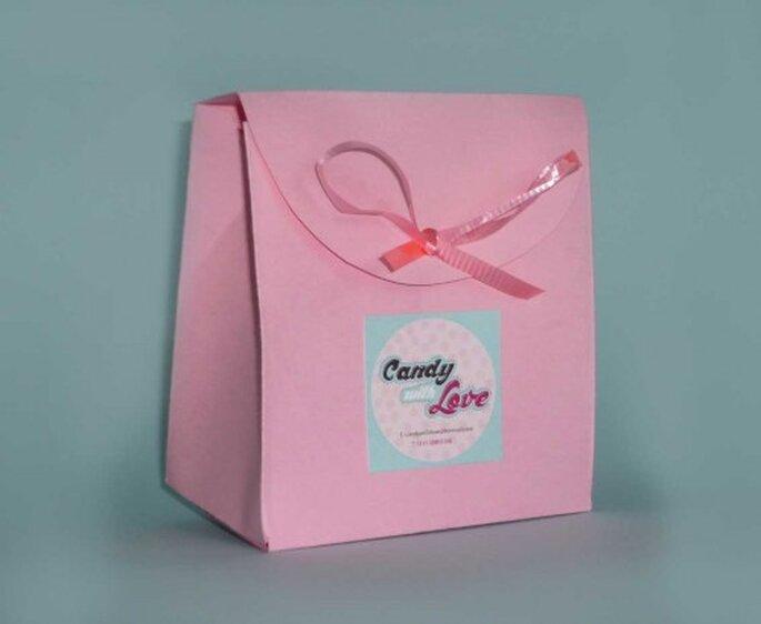 Caja de dulces personalizada. Fotografía Candy with love