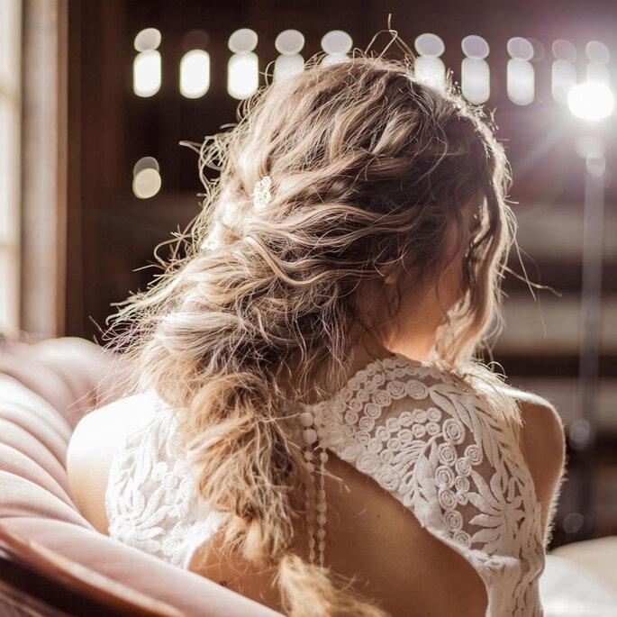Boho-Brautfrisur geflochten
