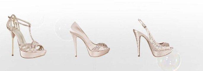Tacchi altissimi e plateau per scarpe da sposa sexy e non convenzionali. Collezione Sposa Loriblu 2012