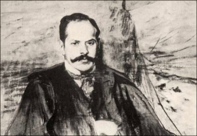Kazimierz Przerwa-Tetmajer (mal. Leon Wyczółkowski) https://histmag.org/swawole-tetmajera-czyli-z-zycia-mlodopolskiego-poety-12613