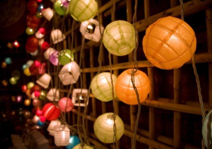 lamparas orientales para bodas