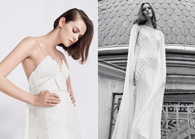 "SELF PORTRAIT Robe ""Angelic"" 980€ / TEMPERLEY Robe ""Hettie"" 5 850 €"
